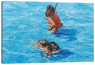Snorkellers Canvas Art Print