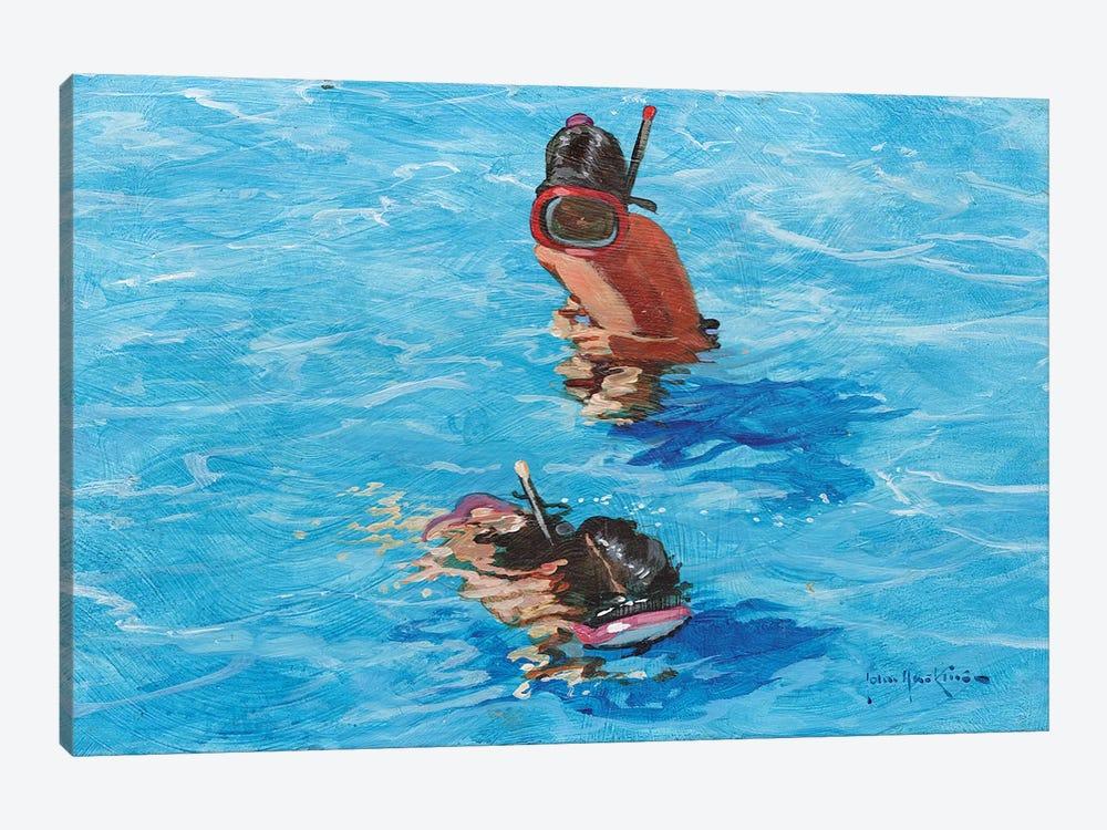 Snorkellers by John Haskins 1-piece Canvas Print