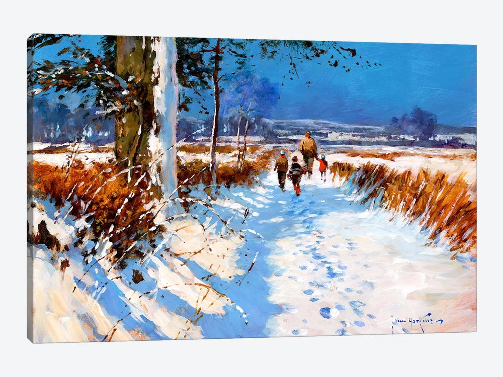 Snow On The Bridleway by John Haskins 1-piece Canvas Print