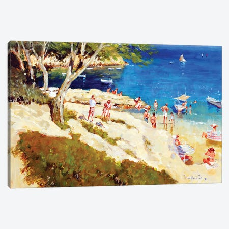 Summer In the Bay Canvas Print #JHS57} by John Haskins Canvas Artwork