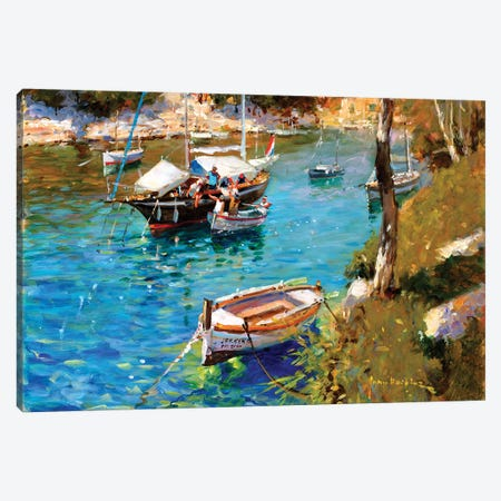 Taking On Supplies - Cala Figuera Canvas Print #JHS58} by John Haskins Canvas Print