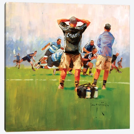 The Coach Canvas Print #JHS59} by John Haskins Art Print