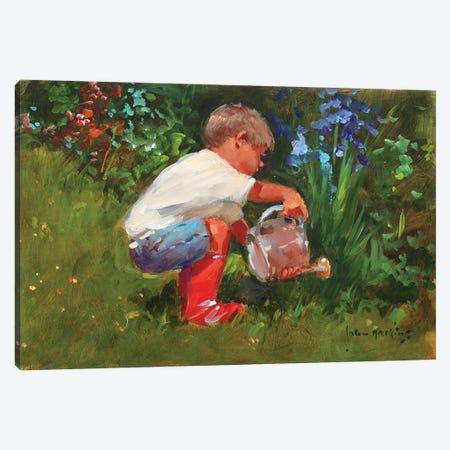 The Gardener's Assistant Canvas Print #JHS60} by John Haskins Canvas Artwork