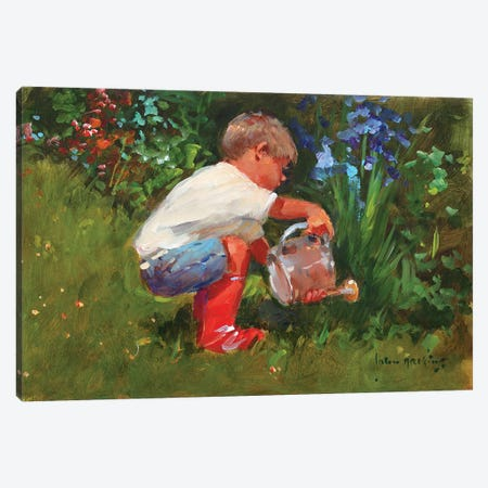 The Gardener's Assistant Canvas Print #JHS60} by John Haskins Canvas Artwork