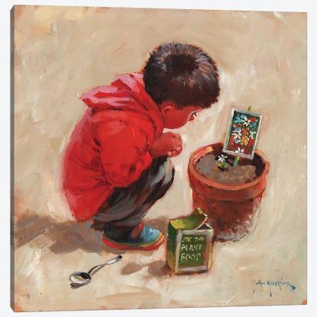 The Patient Gardener Canvas Print #JHS62} by John Haskins Canvas Wall Art