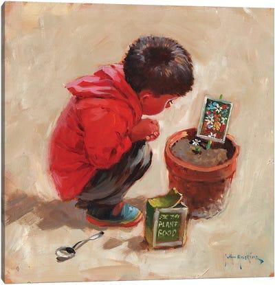 The Patient Gardener Canvas Art Print
