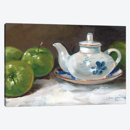 The Saki Pot Canvas Print #JHS63} by John Haskins Canvas Art