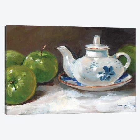 The Saki Pot Canvas Print #JHS63} by John Haskins Canvas Art