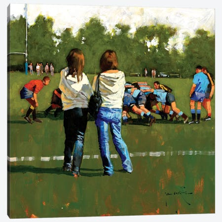 The Supporter's Club Canvas Print #JHS65} by John Haskins Art Print