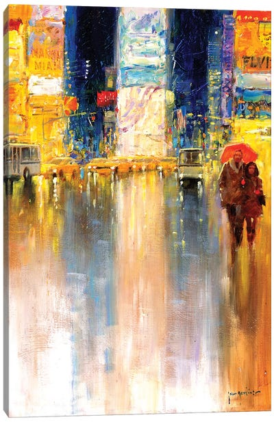 Times Square Evening Canvas Art Print