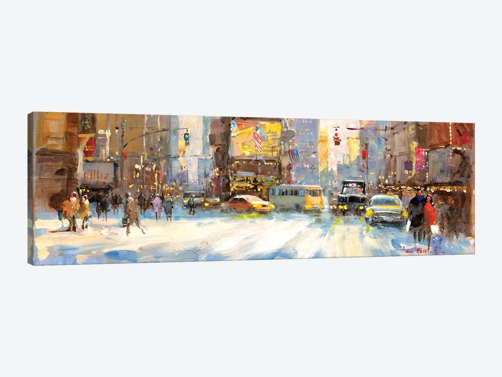 Times Square I by John Haskins 1-piece Canvas Artwork