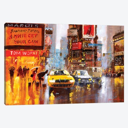 Times Square II Canvas Print #JHS68} by John Haskins Canvas Art