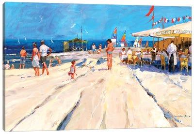 Beach Café At Midday Canvas Art Print