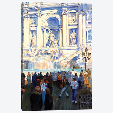 Trevi Fountain Canvas Print #JHS71} by John Haskins Canvas Print