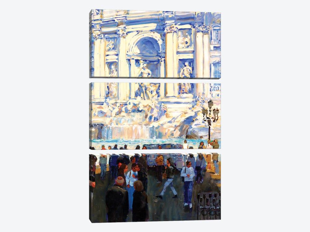 Trevi Fountain by John Haskins 3-piece Art Print
