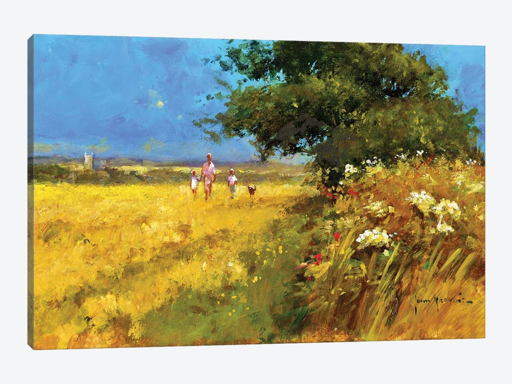 A Walk In The Field by John Haskins 1-piece Canvas Art