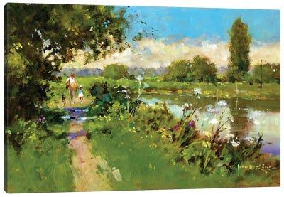 Afternoon Walk Canvas Art Print