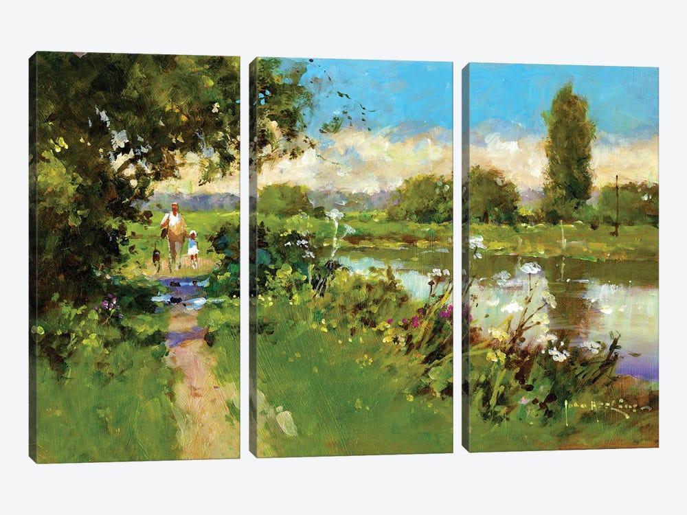 Afternoon Walk by John Haskins 3-piece Art Print