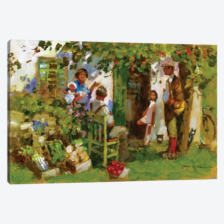 Family Gathering Canvas Print #JHS78} by John Haskins Canvas Print