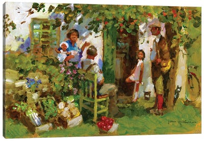 Family Gathering Canvas Art Print