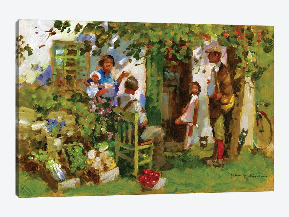 Family Gathering by John Haskins 1-piece Canvas Wall Art