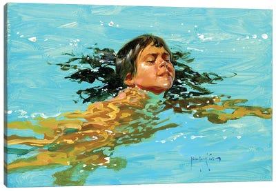 My Best Swim Yet.. Canvas Art Print