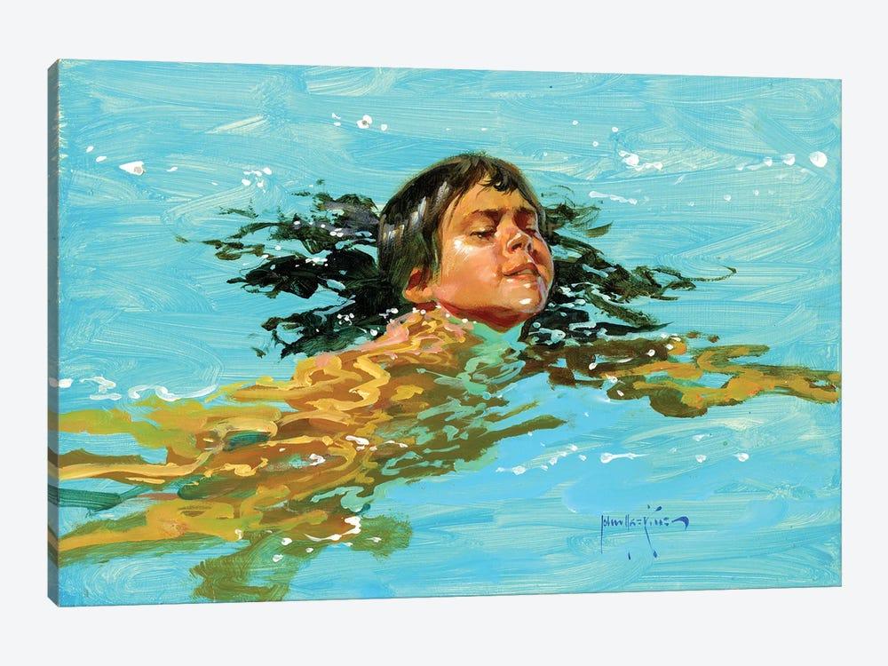 My Best Swim Yet.. by John Haskins 1-piece Art Print