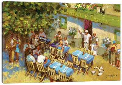 Surtout Le Charbon Canvas Art Print