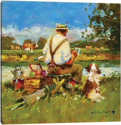 Tea Break On The Ivel Canvas Art Print