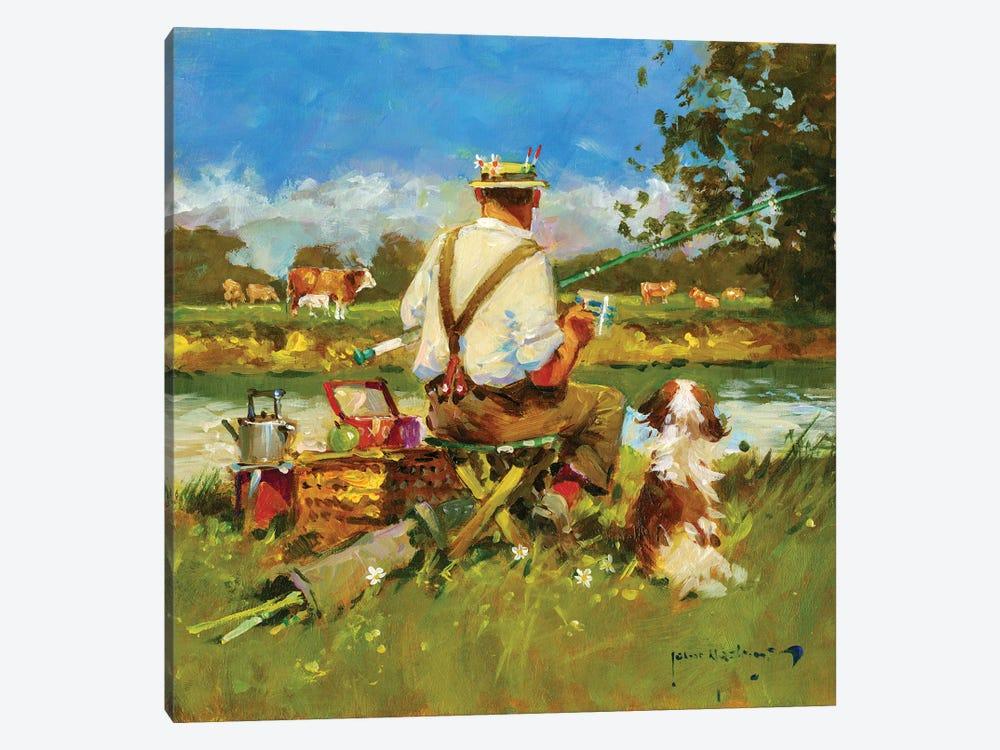 Tea Break On The Ivel by John Haskins 1-piece Canvas Artwork