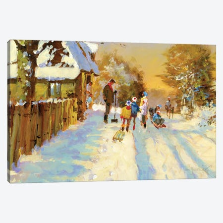 The Return Of The Winter Sports Team Canvas Print #JHS89} by John Haskins Canvas Artwork
