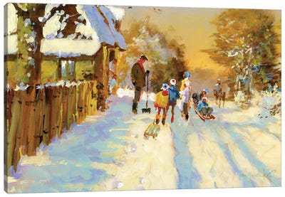 The Return Of The Winter Sports Team Canvas Art Print