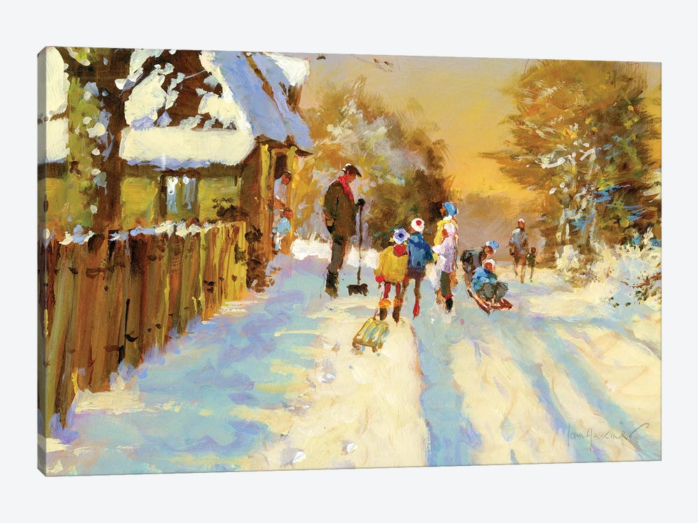 The Return Of The Winter Sports Team by John Haskins 1-piece Canvas Artwork