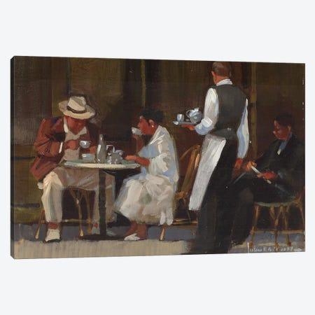 Breakfast On Jermyn Street Canvas Print #JHS8} by John Haskins Canvas Art Print