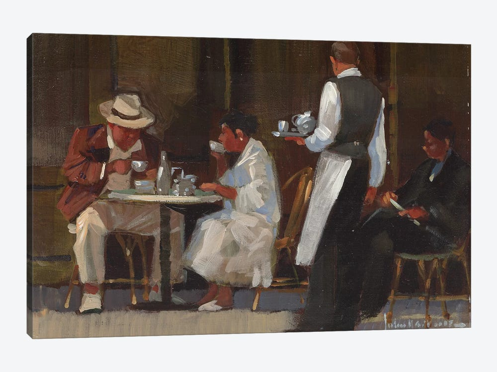 Breakfast On Jermyn Street by John Haskins 1-piece Canvas Wall Art