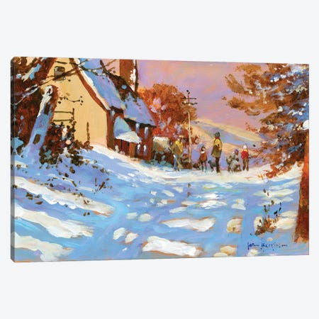 Winter Walk Canvas Print #JHS90} by John Haskins Canvas Print