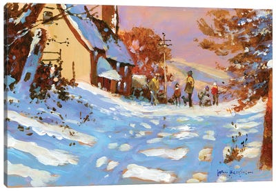 Winter Walk Canvas Art Print