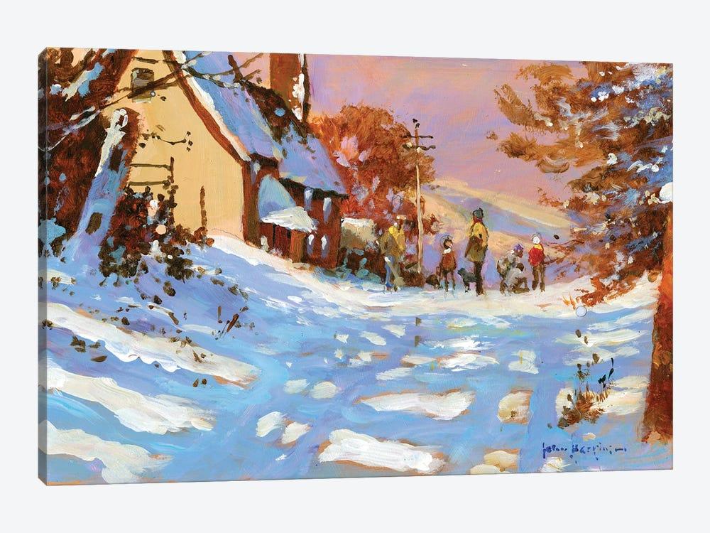 Winter Walk by John Haskins 1-piece Canvas Artwork