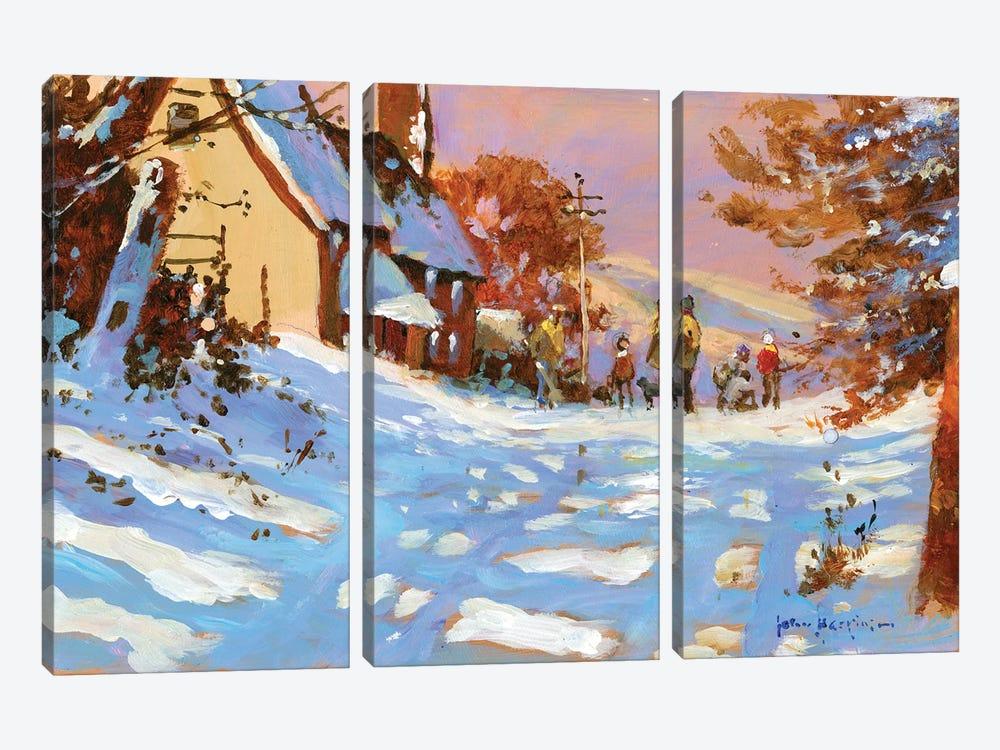 Winter Walk by John Haskins 3-piece Canvas Artwork
