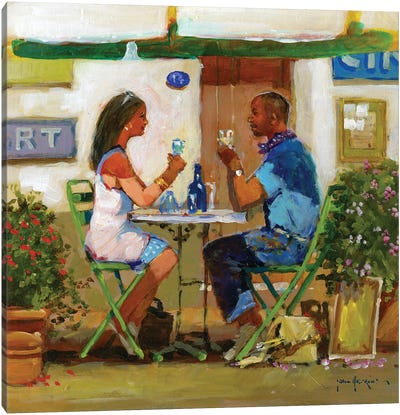 Working Lunch Drinks Canvas Art Print
