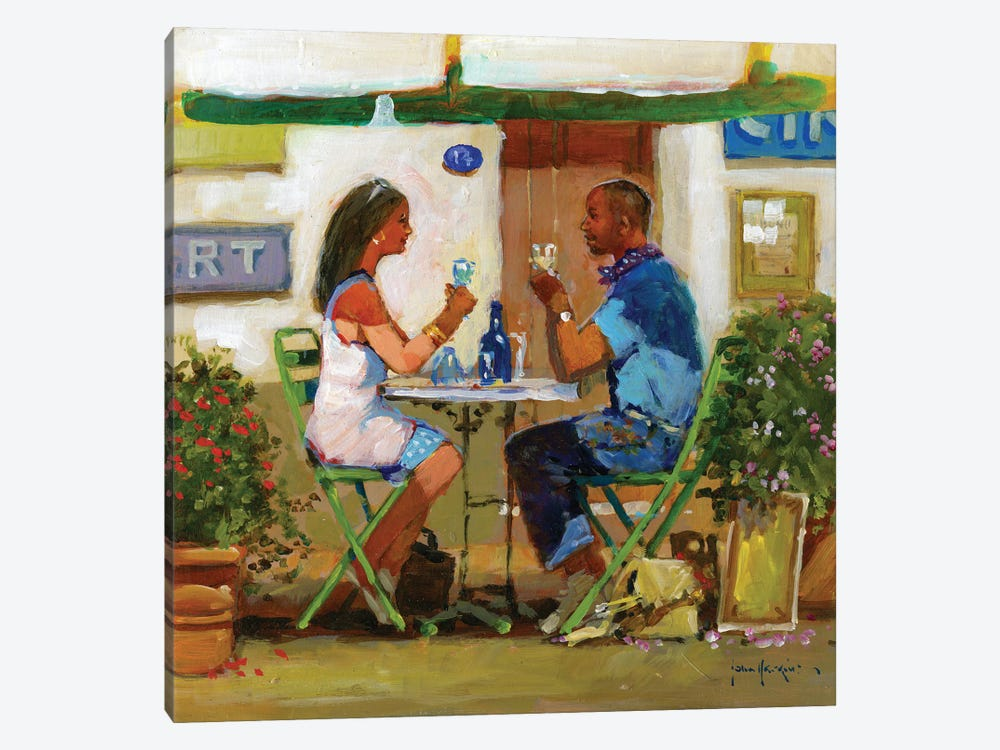 Working Lunch Drinks by John Haskins 1-piece Canvas Art Print