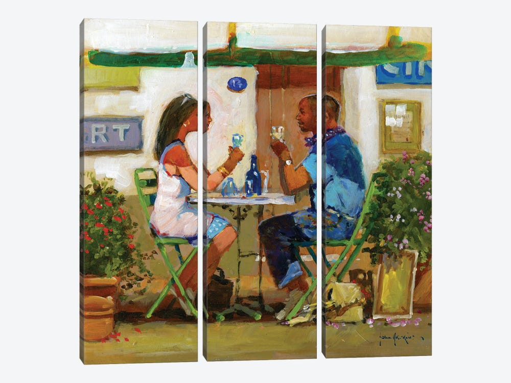 Working Lunch Drinks by John Haskins 3-piece Art Print