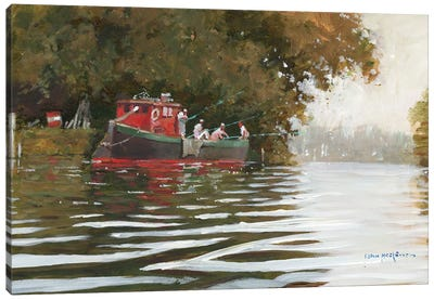 The Fishing Party Canvas Art Print