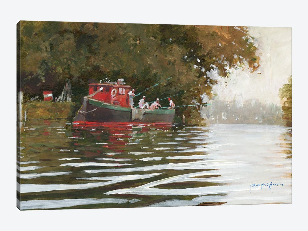 The Fishing Party by John Haskins 1-piece Canvas Artwork