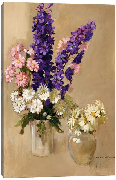 Pink Purple And White Canvas Art Print
