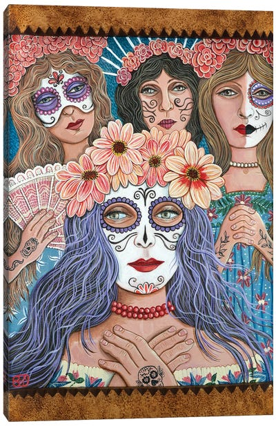 Day Of The Dead Canvas Art Print