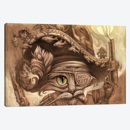 El Gato Loco Canvas Print #JHY11} by Jeff Haynie Canvas Art Print