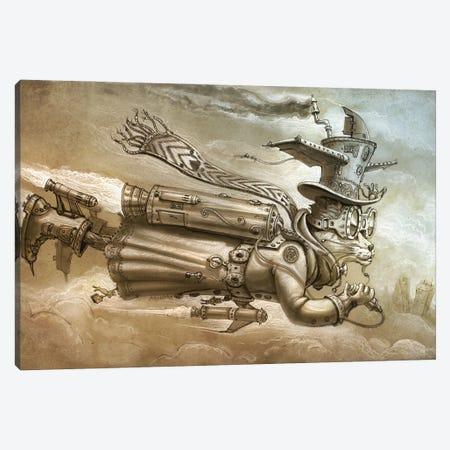 Rocketeer Cat Canvas Print #JHY27} by Jeff Haynie Canvas Art Print