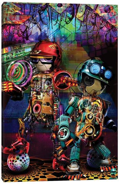 Boombox Robots Canvas Art Print