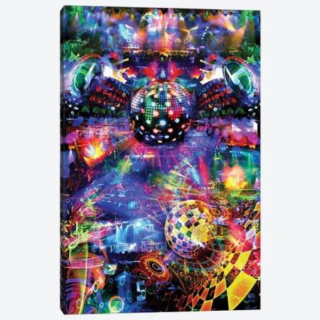 Disco Canvas Print #JIE18} by Jumbie Canvas Art